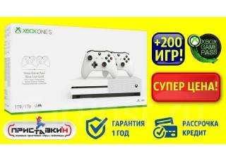 Xbox One S 1TB + 200 игр+2 джойстика